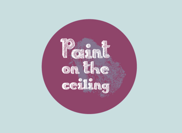 Logo_rond-paint-on-the-ceiling